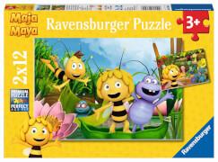 Ravensburger 07624 Puzzle: Ausflug mit Biene Maja 2 x 12 Teile