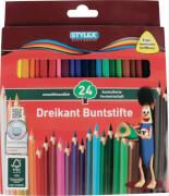 Stylex 24 lange Buntstifte aus FSC-Holz
